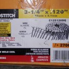"NIB STANLEY-BOSTITCH C12S120DG 3-1/4"" X .120 GALV COIL FRAMING NAIL 2700CT"