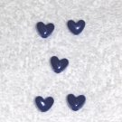 Royal Blue Opaque  6 x 9 mm Plastic Heart Pony Beads 65 pcs.