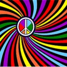Rainbow Swirl with Peace Sign 3 x 5 foot Flag - Banner