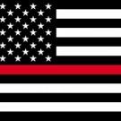 Thin Red Line 3' x 5' Flag Firefighter Support