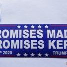 Donald Trump Bumper Sticker Promises Made Promises Kept