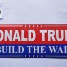 Donald Trump Bumper Sticker DONALD TRUMP BUILD THE WALL