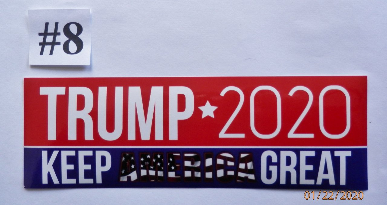 Donald Trump Bumper Sticker TRUMP 2020 KEEP AMERICA GREAT