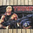 TRUMP with Machine Gun Keep America Great 3' x 5' Flag