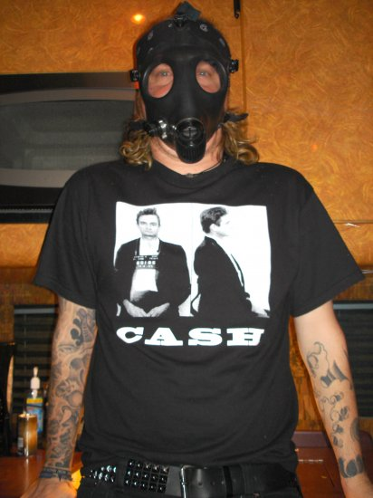 JOHNNY CASH EL PASO MUG SHOT 1965 ~ Premium Sueded T-Shirt ~ SIZE M
