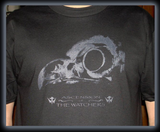 Ascension Of The Watchers OWL SKULL WOMENS T-shirt SIZE L fear factory city of fire