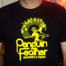 PENGUIN FEATHER RECORDS Premium Sueded Black w/Yellow Ink SIZE S d.c. space 9:30 club