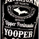 YOOPER Premium Sueded T-Shirt Black - Size 2XL Michigan Upper Peninsula Jack Daniels