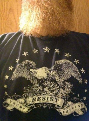 American Eagle Resistance Shirt - RESIST TRUMP FASCISM - Premium Sueded T Shirt SIZE XL