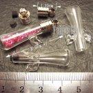1 Mini Angel Glass Bottle Vial Charm Pendant DIY NAME ON RICE bead Message Crystal Liquid sand Flake