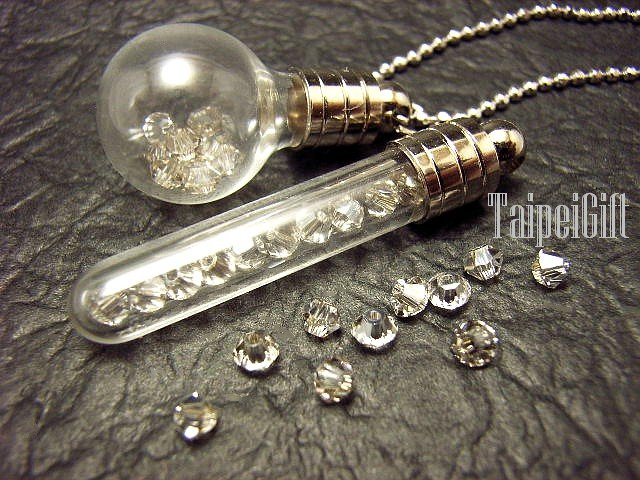 10 Swarovski Crystal Bright White ready to fill in mini glass bottle vial charms