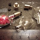 1 Mini Apple Glass Bottle Vial Charm Pendant DIY NAME ON RICE bead Message Crystal Liquid sand Flake