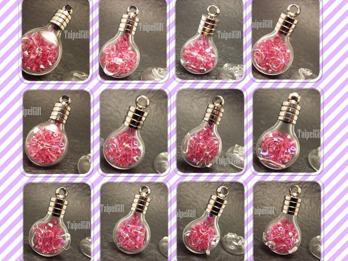 12 Combined Astrology Signs Bottle Vial Charm Pendant DIY NAME ON RICE bead Message Crystal Liquid