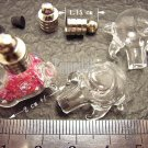 1 Bull's Head Bottle Vial Charm Pendant DIY Personalized NAME ON RICE bead Message Crystal Liquid