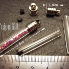 1 Rod Stick Pillar Bottle Vial Charm Pendant DIY Personalized NAME ON RICE bead Message Crystal