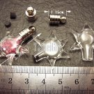 1 Star Astronomy Bottle Vial Charm Pendant DIY Personalized NAME ON RICE bead Message Crystal