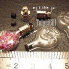 1 Libra Mini Bottle Vial Charm Pendant DIY NAME ON RICE bead Message Crystal Liquid sand Flake