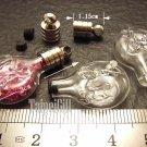 1 Virgo Mini Bottle Vial Charm Pendant DIY NAME ON RICE bead Message Crystal Liquid sand Flake