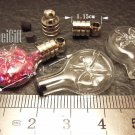 1 Pisces Mini Bottle Vial Charm Pendant DIY NAME ON RICE bead Message Crystal Liquid sand Flake