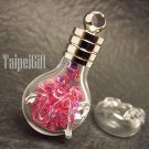 Swarovski Crystal Rose AB in Capricornus Astrology Bottle Vial Charm Pendant