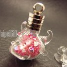 Swarovski Crystal Rose AB in Bull's Head Mini  Bottle Vial Charm Pendant