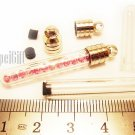 Swarovski Crystal Rose AB in Clear Mini Tube Bottle Vial Charm Pendant