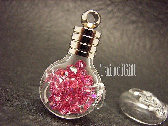 Swarovski Crystal Rose AB in Scorpio Astrology Bottle Vial Charm Pendant
