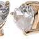 Halle's 18K Rose Gold Plated Tiffany Solitaire 2 ct Heart CZ Sterling Silver Earrings