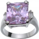Rhodium Plated Tanzanite Jlo Wedding Ring (any size)