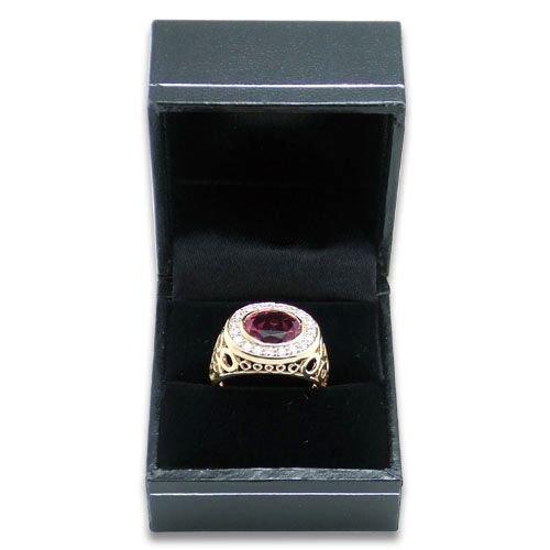 Charcoal Black Ring Box