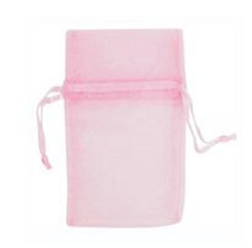 12 Large Pink Drawstring Jewelry Pouches