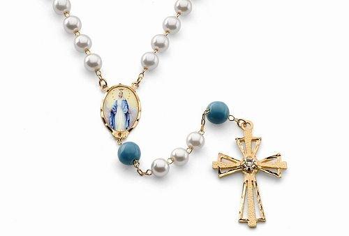 "18K Gold Laminate 24"" Rosary"