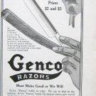 1916 magazine ad for Genco Razors