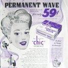 Vintage Chic machineless permanent wave home kit print ad