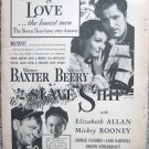 "Vintage 1937 print ad movie ""Slave Ship"""