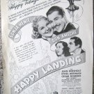"Vintage 1949 print ad movie ""Happy Landing"" Sonja Henie, Don Ameche"