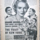 "Vintage 1937 print ad ""The Toast of New York"" movie"