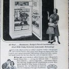 Vintage 1953 Hotpoint refrigerator freezer print ad