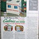 Vintage 1953 Caloric gas range color print ad