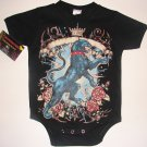 NEW BLACK PUNKY TATTOO STYLE ONESIE OR TEE OF A BLACK PANTHER