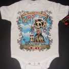 "NEW WHITE SHORT SLEEVE TATTOO ONESIE OR TODDLER TEE ""AMOR INMORTAL PARA SIEMPRE"""