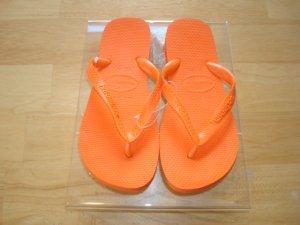 Havaianas Top USA Citrus Orange  Size: 10/11 Free Havaianas Key Chain