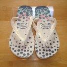 Havaianas Summer Dots       Size:9  Free Havaianas Key Chain