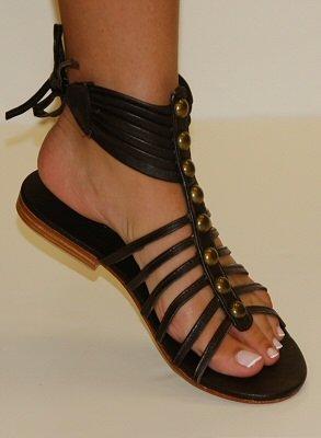 Cocobelle City Sandals Dark Brown  Size: 9 1/2-10 Super Sale  $59.00