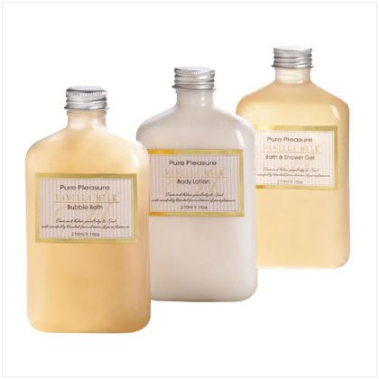 vanilla milk bath set    36399