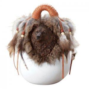 bear basket vase   34743
