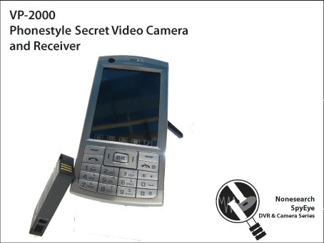 Phonestyle Secret Video Camera and Receiver - VP-2000
