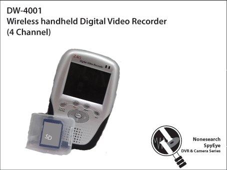 Wireless handheld Digital Video Recorder (4 Channel) - DW-4001