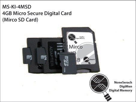 4GB Micro Secure Digital Card (Mirco SD Card) - MS-KI-4MSD