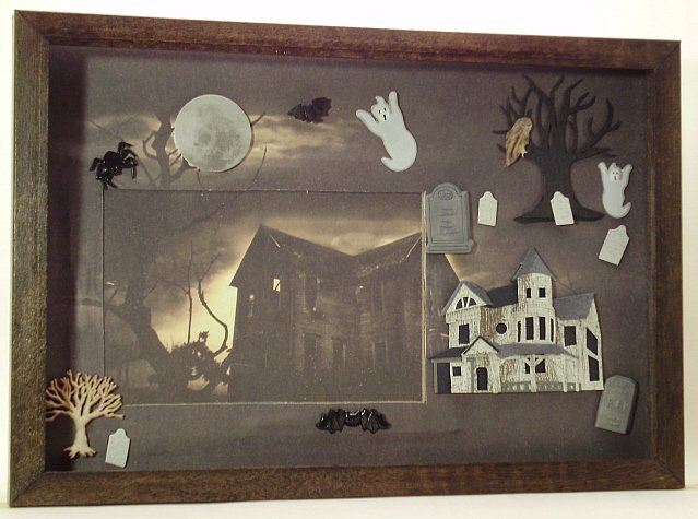 Haunted House Picture/Photo Frame 5023